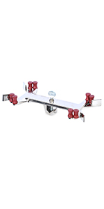 360 Degree Rotation Medium//Large 76mm//95mm Grip Size Talboys 916073 2-Prong Double Jaw Utility Clamp 222mm Length