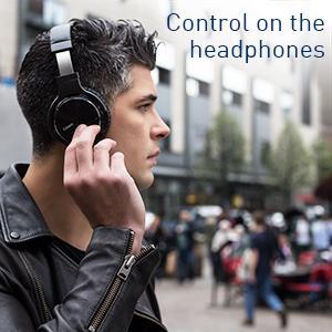Control on the headphones