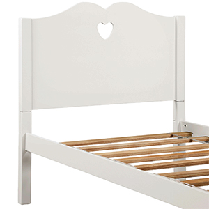 Bed Frame Twin Platform Bed with Wood Slat Support and Headboard and Footboard (Pink)