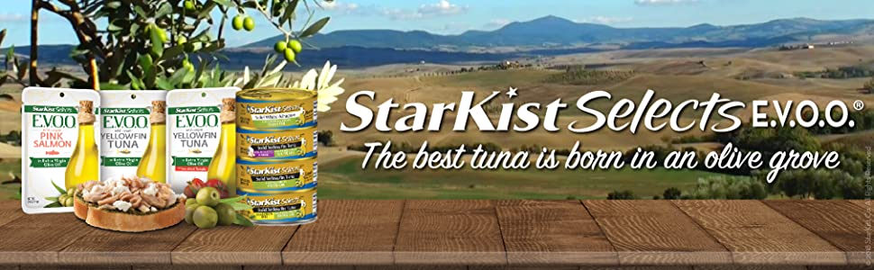 starkist selects evoo the best tuna is born in an olive grove