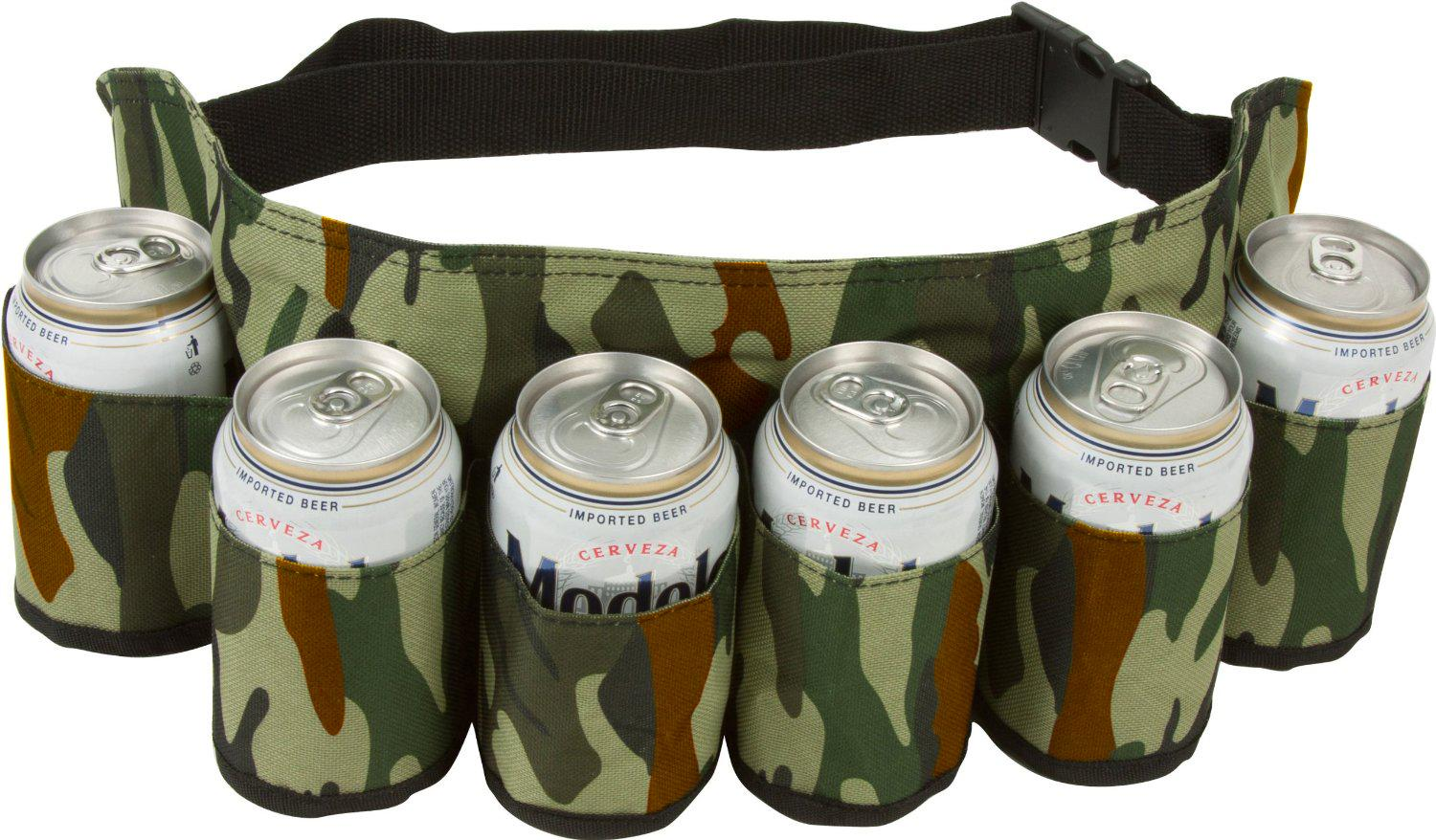 Amazon Com Ez Drinker Beer Amp Soda Can Holster Belt