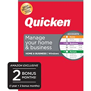Quicken Home & Business Budget Manage Money Personal Finance Computer Laptop Small Invoice Checks