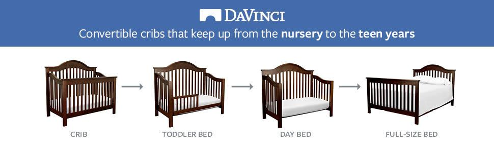 Amazon Com Davinci Jayden 4 In 1 Convertible Crib