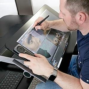 Wacom Cintiq Pro, ergonomik, ayarlanabilir, montaj, stand, ergotron, grafik ekran, çizim tableti