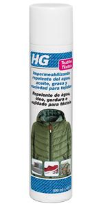 ... HG Impermeabilizante repelente del agua, aceite, grasa y suciedad para tejidos ...