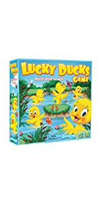 lucky, ducks, pond, preschool, game, matching