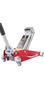 Torin BIG RED Hydraulic Low Profile Aluminum and Steel Racing Floor Jack