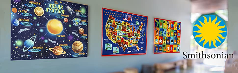 Amazon Com Smithsonian Rug Abc Alphabet Learning Carpets