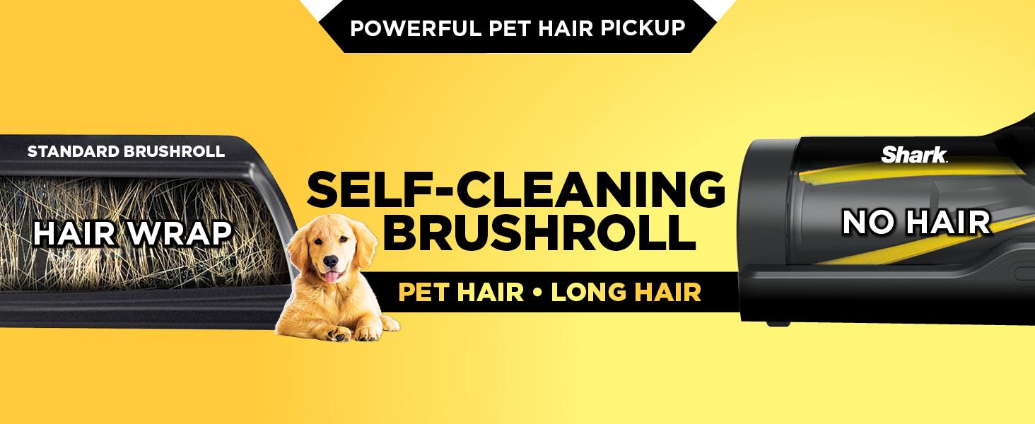 self cleaning brushroll, no hair wrap, powerful pet hair pickup, pet vacuum, pet hair vacuum