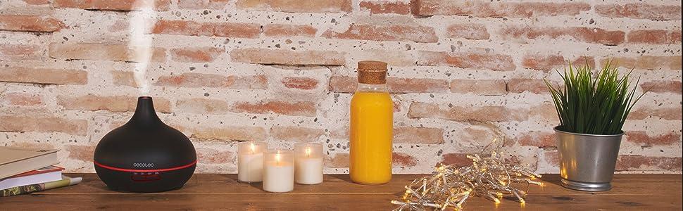humidificador aromaterapia; humidificador aceites esenciales; humidificador silencioso