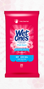 Wet Ones Antibacterial hand wipes face wipes fresh scent germs clean