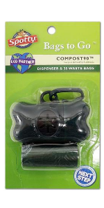Spotty Compost90 Dispenser and Refill Dog Poop Bags