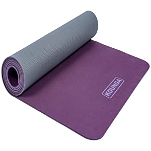 Kounga Pro Light 5 - Colchoneta Esterilla de Yoga, Unisex Adulto, Purple/Grey, 183 x 61 cm