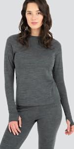 scoop top long sleeve shirt women