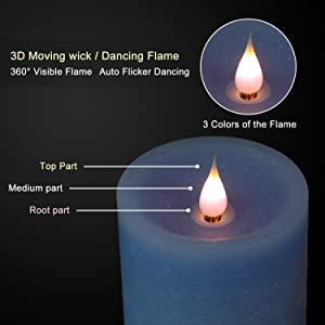 Moving Flame Led Candle with Timer