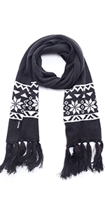 Knitted Scarf with Snowflake Pattern