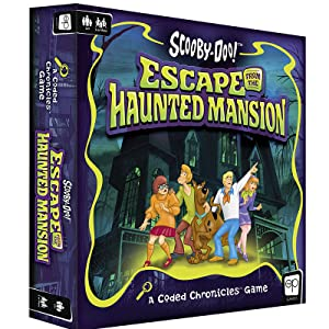 Scooby-Doo: Escape from the Haunted Mansion escape room board game kit