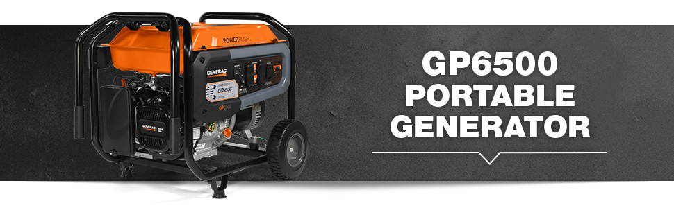 Generac, GP6500, Portable, Generator, COSense
