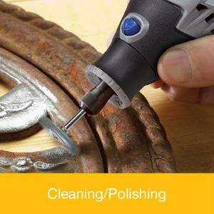 polishing jewellry removing rust rotary tool carving bristle brush cleaning paint sanding precision