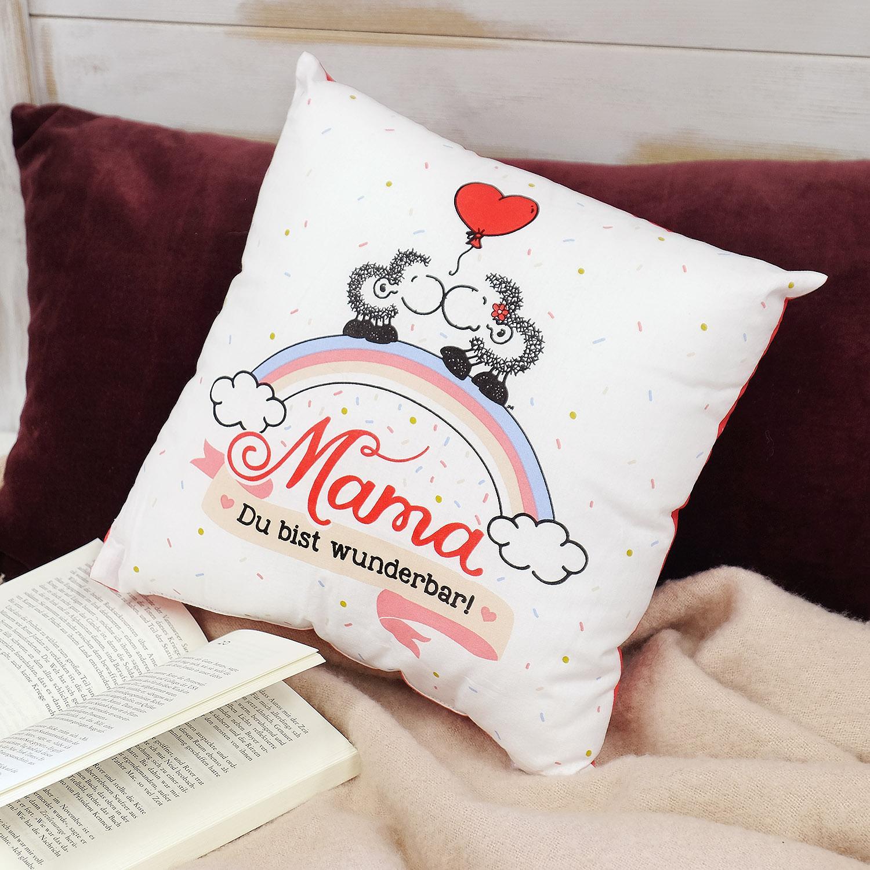 sheepworld 42911 baumwoll kissen mit spruch mama danke dass es dich gibt geschenk mama 40 cm. Black Bedroom Furniture Sets. Home Design Ideas