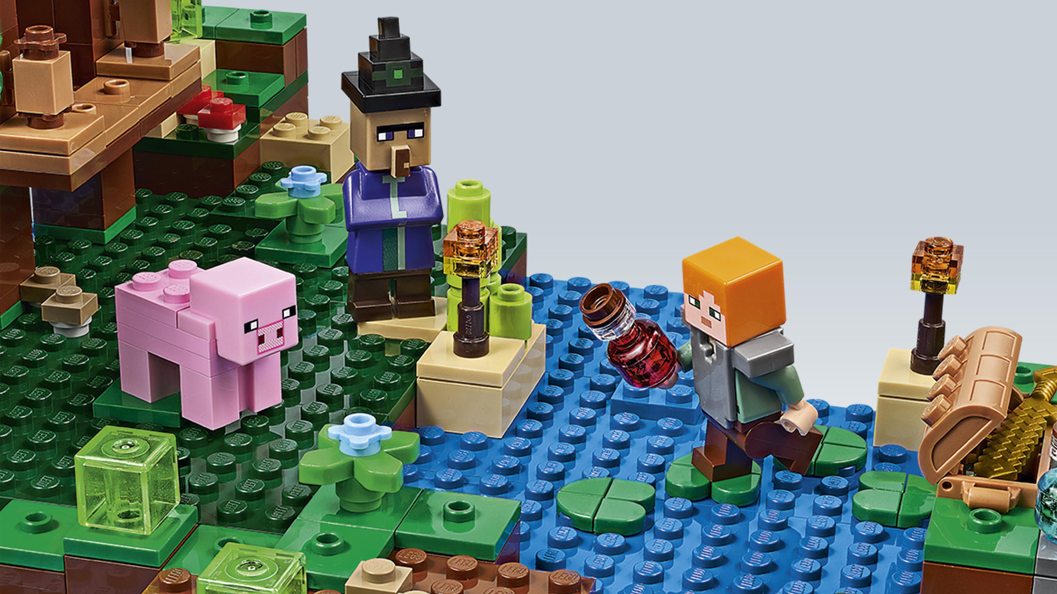 Amazoncom Lego Minecraft The Waterfall Base 21134 Toys 4567991 Ivy Leaf Silhouette Limey Poster Suit Icon Dorothea Lange Photos Of Kids Cool Illuminati