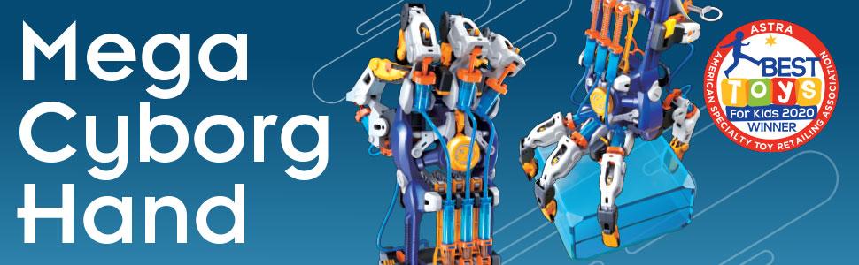 cyborg, hydraulics, pneumatics, thames, kosmos, science, STEM, toys, educational, learning