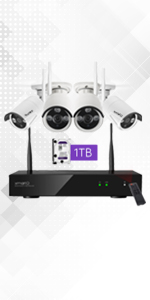 security camera system wireless wifi outdoor PTZ night vision white house office store garage