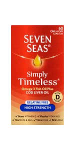 Seven Seas, Cod liver oil, High Strength, EPA, DHA, Vitamin E