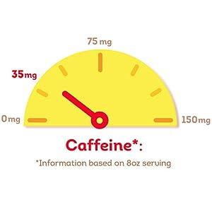 Caffeine information based on 8oz serving