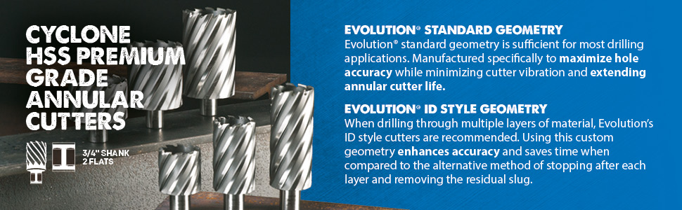 Evolution CC437L 7//16-inch Diameter X 2-inch Depth of Cut Cyclone High Speed for sale online