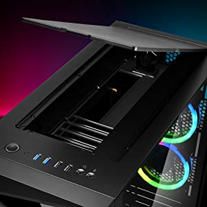 Sharkoon REV200 RGB - Caja de Ordenador, PC Gaming, Semitorre ATX, Negro: Amazon.es: Informática
