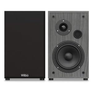 Wiibo - String 15 - Pareja de Altavoces HiFi - Potencia 100W - Altavoz Estantería - Sonido Profundo y con matices - 225 mm x 185 mm x 300 mm - Color: ...