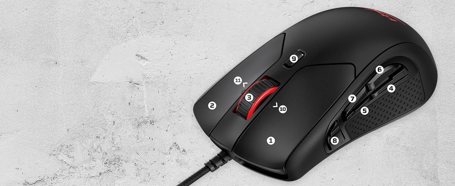 Lightweight 11-button programmable mouse