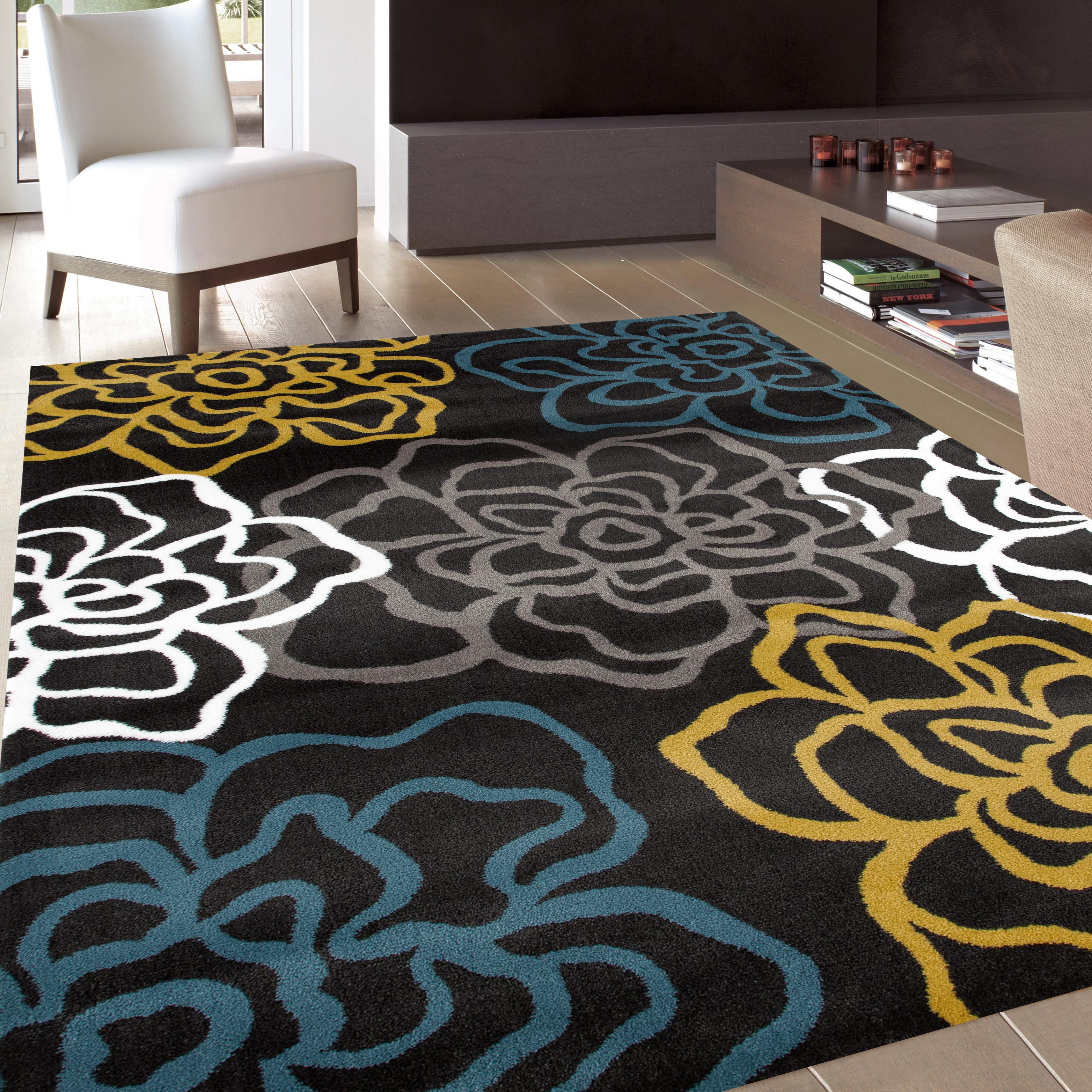 Modern Kitchen Rugs: Amazon.com: Rugshop Contemporary Modern Floral Flowers