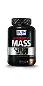 USN Hyperbolic Mass All-In-One Gainer Shake Powder ...