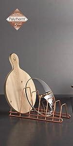 ... ordenación cocina, organizadores cocina, polytherm, cobre, copper, soporte tapaderas, tapas ...