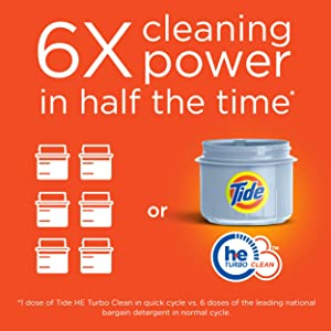 6x cleaning power in half the time