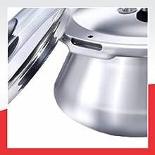 Prestige Stainless Steel Pressure Handi With Glass Lid