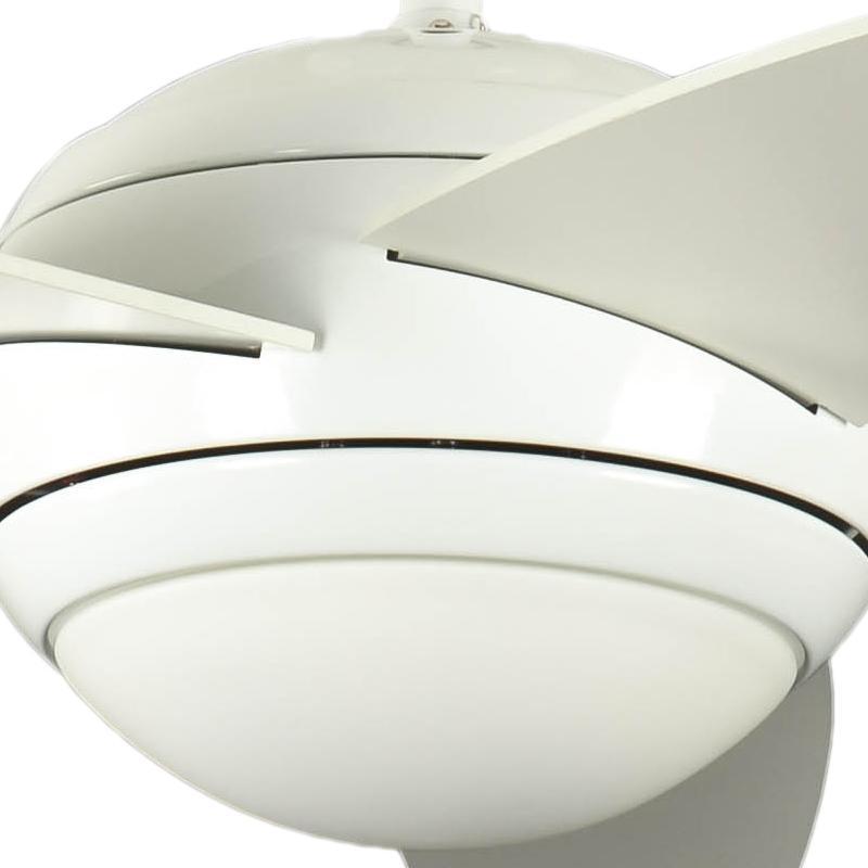 Ventilateur de plafond r versible melton blanc 132 cm avec - Ventilateur de plafond avec eclairage ...