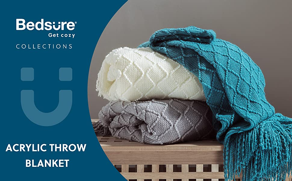 Bedsure Blanket for Couch, Knit Woven Blanket 1