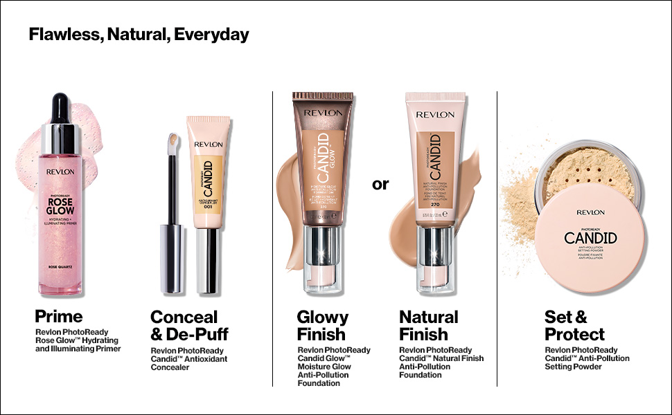 candid photoready collection revlon foundation primer powder concealer