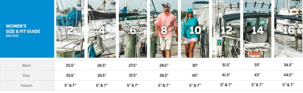 Women's shorts size and fit guide