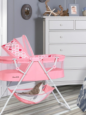 Design; In Dream On Me Karley Bassinet In Aque Blue Novel