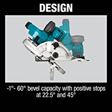design -1 60 degrees bevel capacity with positive stops at two points