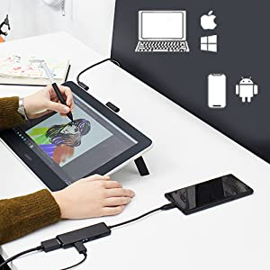 Bamboo, drawing tablet with screen, graphics monitor, Intuos, Cintiq, animation, pen display, art