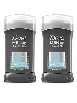 Dove Men+Care Antiperspirant Deodorant in Clean Comfort Scent, Pack of 2