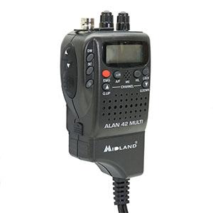Cb Portable Midland Alan 42 Ds Mit Squelch Automat Digital C1267 C480 17 Obs Schwarz Norme Heimkino Tv Video