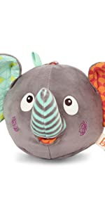 soft toys, baby toys, plush, stuffed animal, songs, music, sounds, interactive, elephant