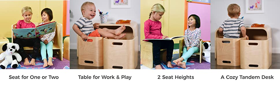 Awe Inspiring Ecr4Kids Bentwood Multipurpose Kids Table And Chair Set 3 Piece Adaptable Furniture Set Kids Learning Desk Certified And Safe No Assembly Gmtry Best Dining Table And Chair Ideas Images Gmtryco