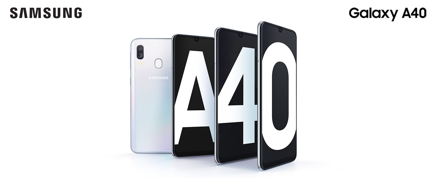 "Samsung Galaxy A40 Display 5.9"", 64 GB Espandibili, RAM 4 GB, Batteria 3100 mAh, 4G, Dual SIM Smartphone, Android 9 Pie, (2019) [Versione Italiana], Blue"